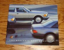 Original 1991 Mercedes Benz Full Line Sales Brochure 91 190 300 S Class