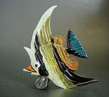 Pez De Vidrio Pintado Tiger Pez Ángel Curio Vidrio Ornamento Figura de peces de acuario