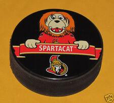 Ottawa Senators Mascot Team Logo SOUVENIR PUCK Spartacat Sparta NHL NEW