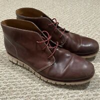 Cole Haan Mens Zerogrand OS Chukka Boots Brown Leather C14034 Size 10.5 M