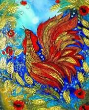 Ukrainian Folk Art by Elena Diadenko, Rooster, Print