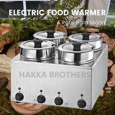 Hakka Refurbished Countertop Food Warmer Buffet Soup 35l 4 Pots Bain Marie