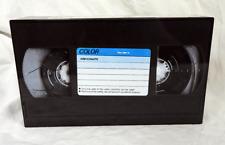 Retro Video Cassette Design Hinged Lidded Tin -