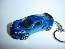 NEW 3D BLUE LOTUS EXIGE CUSTOM KEYCHAIN keyring key racing finish turbo