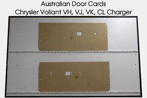 Chrysler Valiant Charger VH VJ VK CL Coupe Hardtop Door Cards, Blank Trim Panels