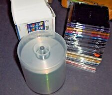 LOT OF BLANK CDs, CASES AND JACKETS