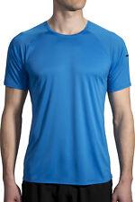 Brooks Stealth Short Sleeve Mens Running Top - Blue