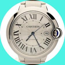 Cartier Ballon Bleu watch stainless steel 42MM + box & booklets