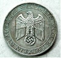 WW2 GERMAN COMMEMORATIVE COLLECTORS REICHSMARK COIN ...