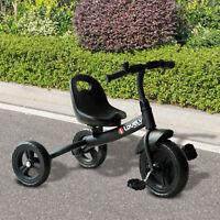HOMCOM Baby Kids Children Toddler Tricycle Ride on Trike 3 Wheels Safety Black