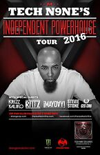"Tech N9Ne /Ritz ""Independent Powerhouse Tour 2016"" North American Concert Poster"