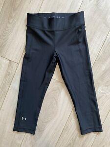 Under Armour Women's Black Skinny Stretch Capri Leggings, 8 (S)