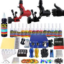 Tattoo Kit Rotary Tattoo Machine Guns Set Ink Power Supply Grip Needle TK203-16