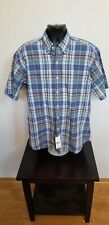 Mens- RALPH LAUREN POLO -Button Down BLAKE Short Sleeve Plaid Shirt 204