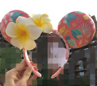 Disney Aulani Ko Olina Hawaii Minnie Mickey Ears Plumeria Flower Jewels Headband