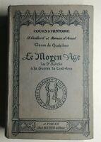 Rare Livre Ancien cours d'histoire le moyen-âge H. Gaillard Hatier éditeur 1928