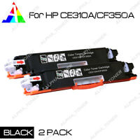2PK CE310A Black Toner Cartridge For HP 126A LaserJet Pro M175nw M275 CP1025NW