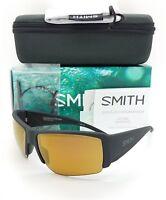 NEW Smith Captain's Choice Sunglasses Mt Black ChromaPop+ Polarized Bronze $229