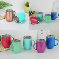 Coffee Mug Double Wall Stainless Steel Cup Insulated Tumbler Thermos Gift Nice