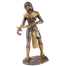 Egyptian Bronze Mummy King Tut Zombie Sarcophagus Statue