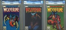 Wolverine Limited Series #2, 3, 4 Set Lot CGC (1982) 1st Solo Title Frank Miller