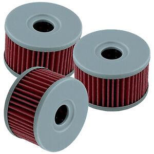 3 Pack Oil Filter for Suzuki DR650S 1990-91 DR650SE 1992-2017 2019 Dr500 81-83
