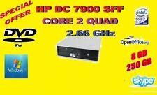 Computer desktop HP con hard disk da 250GB RAM 8GB