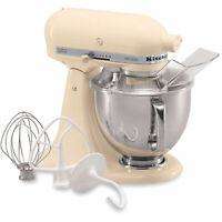 KitchenAid Almond Cream Artisan 5-Quart Tilt-Head Stand Mixer KSM150PSAC