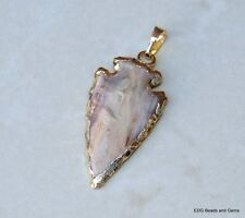 Natural Jasper Arrowhead Pendant. Arrow Pendant - Jasper Pendant - 25mm x 40mm