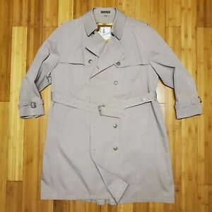 Mens Misty Harbor Trench Coat W/wool lining Size 48