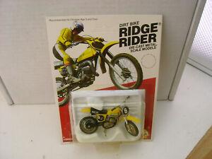 "1980 ZEE DIECAST 3"" LONG SUZUKI RM125 DIRT BIKE RIDGE RIDER NEW ON CARD"