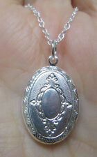 Sterling Silver Mini Locket Necklace