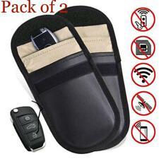 2X New Car Key Keyless Entry Anti-Theft Fob Signal Protector Guard Blocker Bag