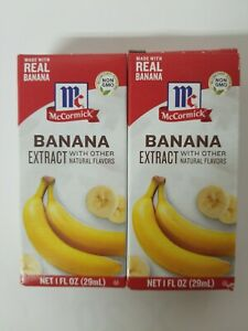 (2 Pack) McCormick Banana Extract With Other Natural Flavors, 1oz, exp. 10/2024