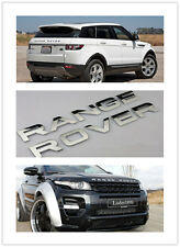 Range Rover Front BONNET Hood Up Grille Rear trunk Emblem Sticker Chrome