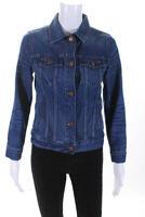 Madewell Womens Denim Long Sleeve Button Up Jean Jacket Blue Size XS