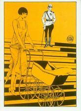 Guido Crepax Postcard: Louise Brooks (France, 1985)