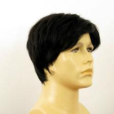 Perruque homme 100% cheveux naturel noir ref PIERRE 1b