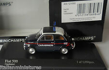 Fiat 500 Carabinieri 1965 Minichamps 1/43 Mint Condition 1056 Limited Issue