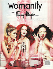 PUBLICITE ADVERTISING  2010   THIERRY MUGLER  le parfum WOMANITY