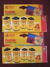 8 each NEW 24 Exposure KODAK GOLD 35MM 100 ISO COLOR PRINT FILM for BRIGHT SUN