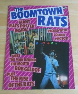 """the Boomtown Rats 1979 poster mag , 8 1/4"""" x 11 1/4"""" , opens out to 34"""" x 45"""""""