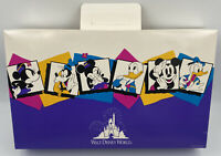 "Vtg Walt Disney World Purple Holiday Gift Box, Mickey Minnie 18""x11""x3"", 1990's"