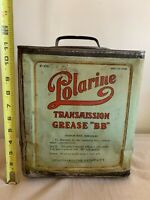 1920's Vintage Polarine Standard Oil Company 25lb Grease Can No Reserve!!
