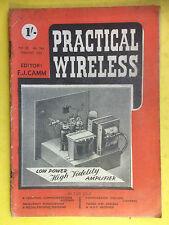 PRACTICAL WIRELESS - Magazine - February 1952 - Low Power High Fidelity Amp