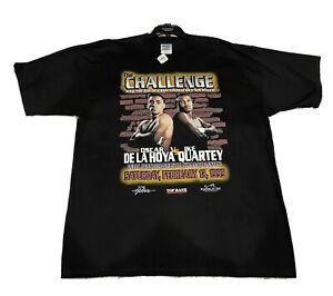 Vintage Oscar de la hoya the challenge boxing t shirt 1999 Size XXLarge. NWT