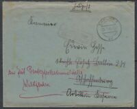 26863) Bechstädt-Wagd über Erfurt 1940 Landpoststempel Bedarfsbrief Wildflecken