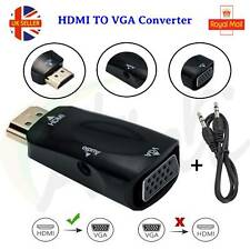 HDMI Male to VGA Female Adapter Converter Audio Output Cable 1080p PC HDTV DVR