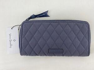 Vera Bradley Accordion Wallet Zip Around Clutch Organizer Carbon Gray $85 NWT