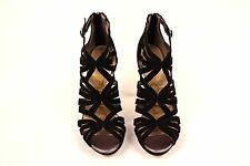 8f5442f6a1a6 New Sam Edelman Black Eve Womens Cage Sandal Suede Strappy Heels Pumps 5.5   170